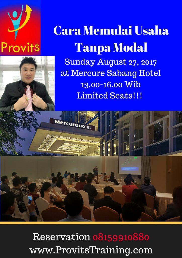 Belajar dan Memulai Menjadi Pengusaha Hotel Mercure Sabang Jakarta Pusat