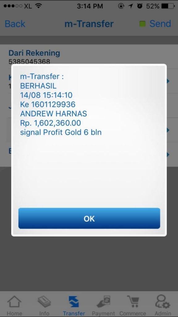 Bukti Transfer Signal Forex Gold Provits