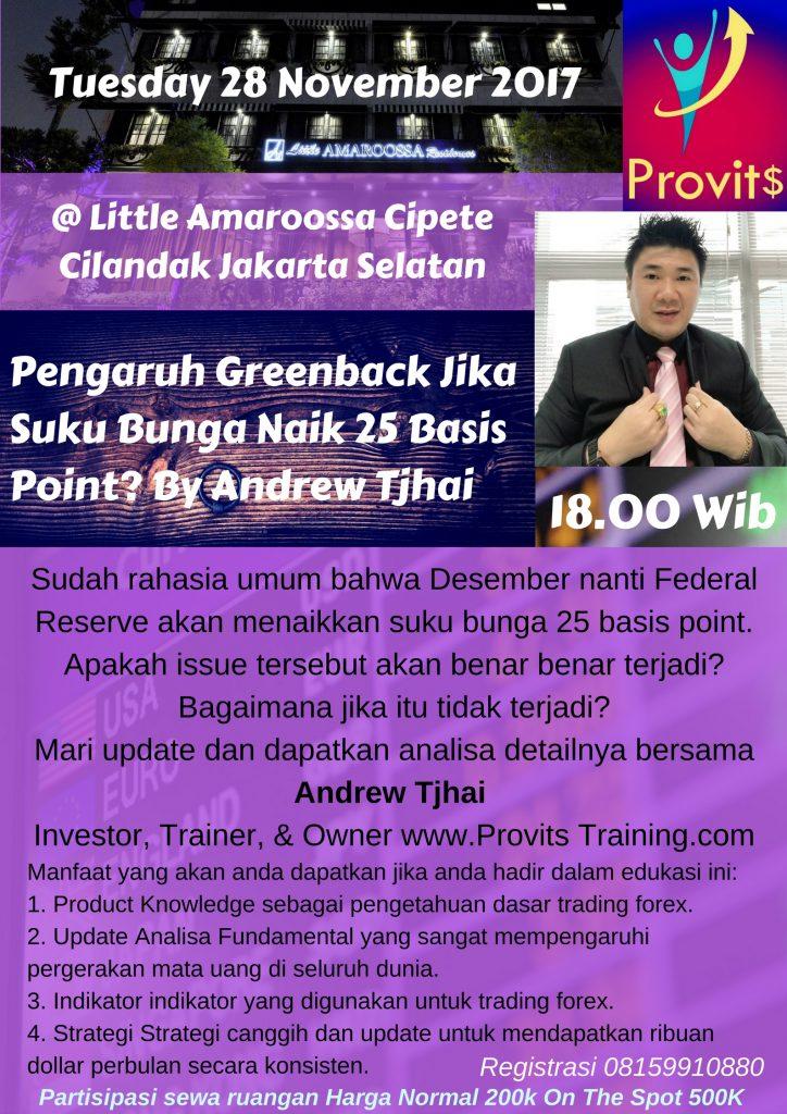 Edukasi Bulanan November Trading Forex Jakarta Selatan