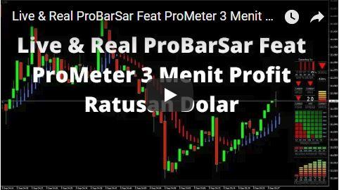Real & Live ProBarSar Feat ProMeter 3 Menit Profit Ratusan Dolar