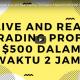 Live dan Real Trading Timeframe 5 menit profit $500 Hanya Dalam 2 Jam!