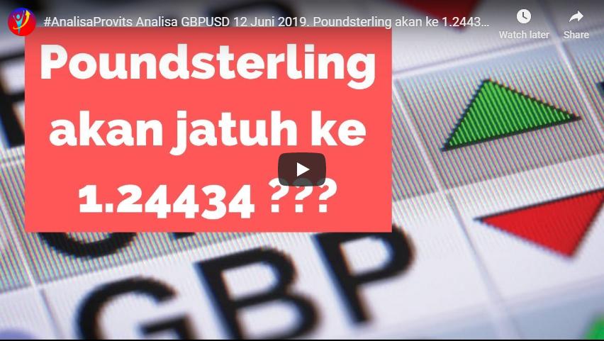 Analisa GBPUSD 12 Juni 2019. Poundsterling akan ke 1.24434?