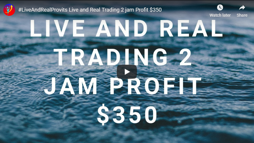 Live and Real Trading 2 Jam Profit $350