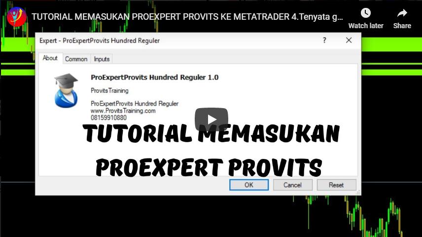 Tutorial Memasukan Proexpert Provits Ke Metatreder 4 Ternyata Gampang Banget