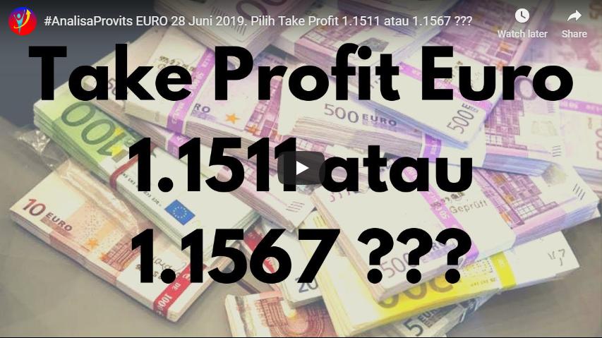 Analisa EURO 28 Juni 2019. Pilih Take Profit 1.1511 atau 1.1567?
