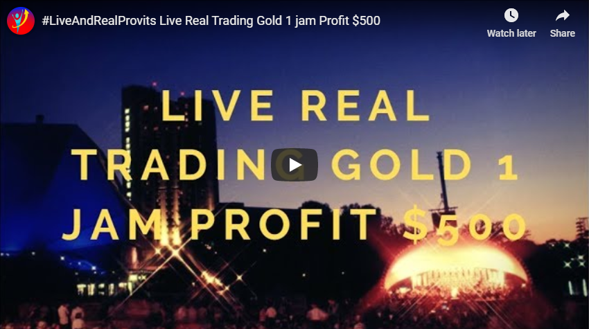 Live Real Trading Gold 1 Jam Profit $500