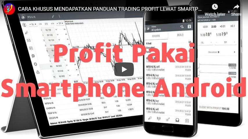 Mendapatkan Panduan Trading Profit Lewat Smartphone Android