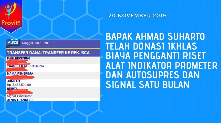 bapak ahmad suharto telah donasi ikhlas